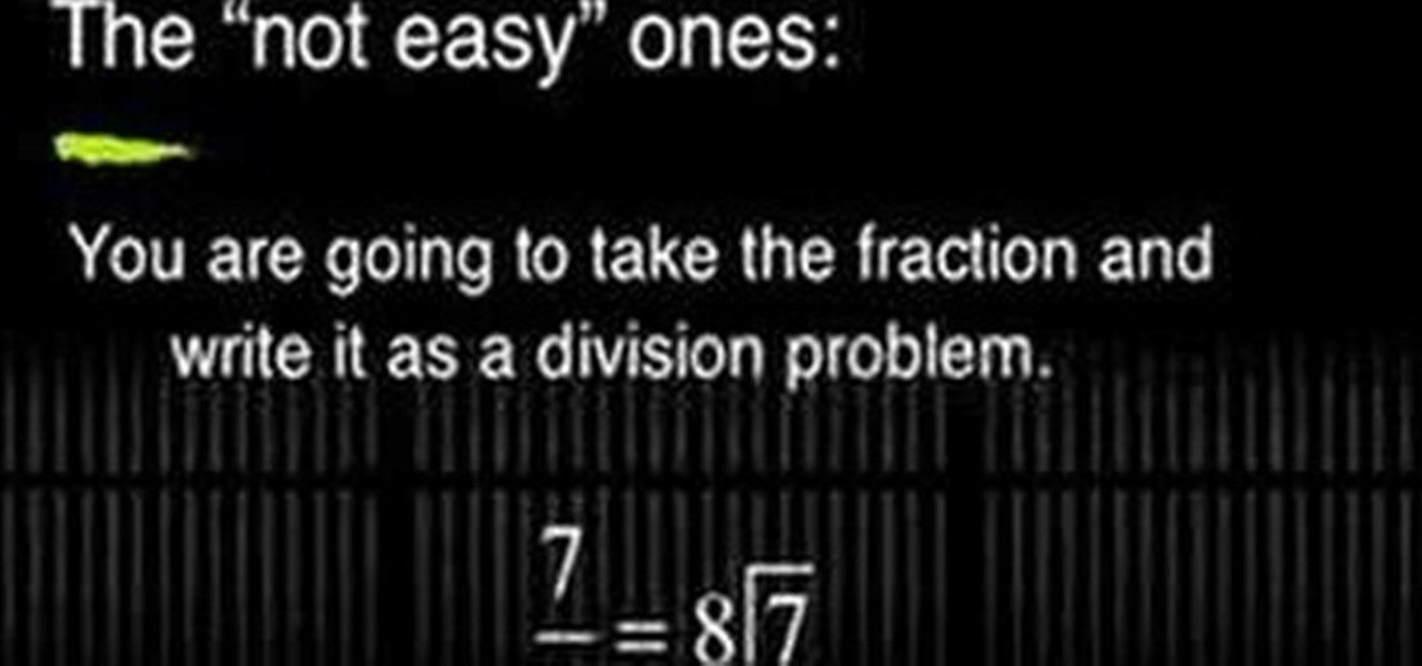 How To Write A Fraction As A Decimal 171 Math Wonderhowto