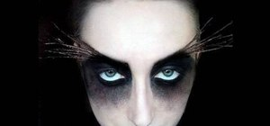 Create a freaky moth makeup look for Halloween