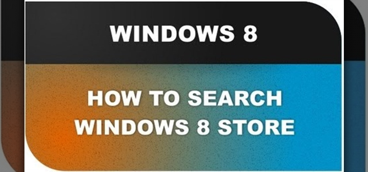 Search Windows 8 Store Applications