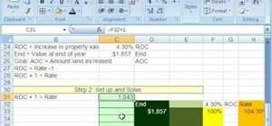 Solve rate/percent increase/decrease problems in Excel