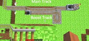 Add minecart boosters, automated minecart station, and more fun in Minecraft