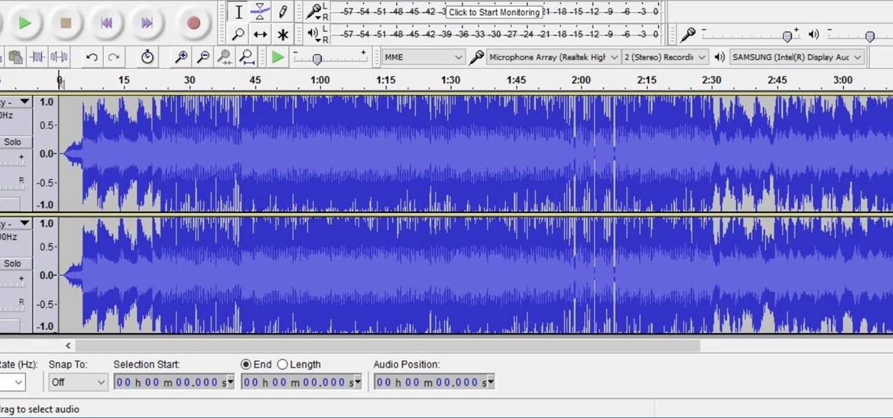 Remove Vocals from Songs Using Audacity