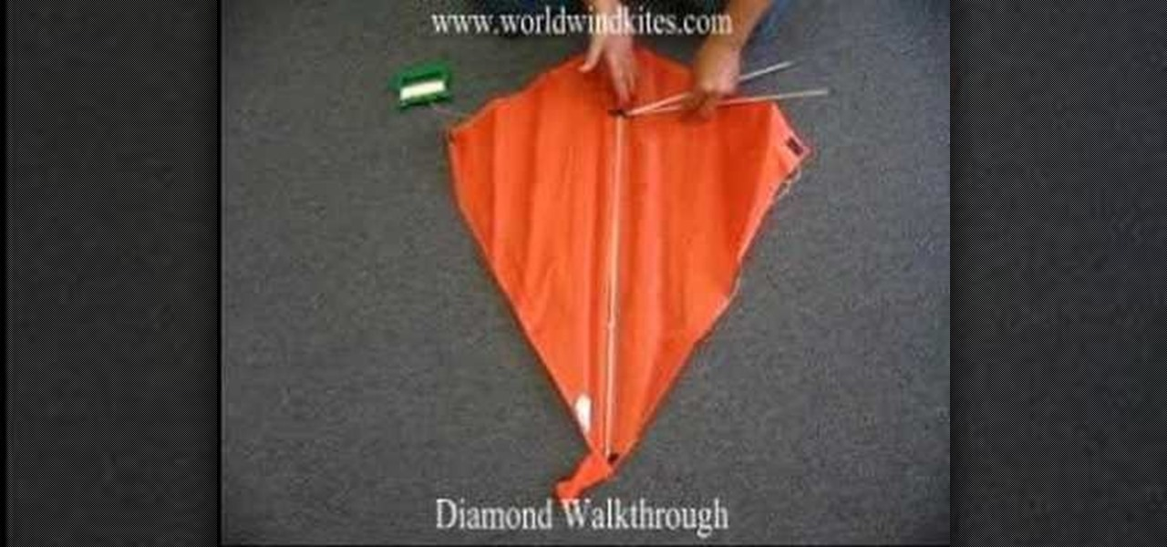 How To Assemble A Store Bought Diamond Kite Kites Wonderhowto