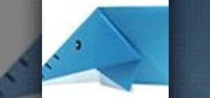 Origami an elephant Japanese style