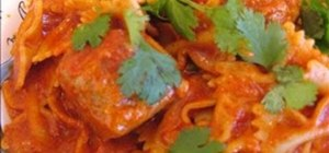 Make Indian chicken meat balls with pasta