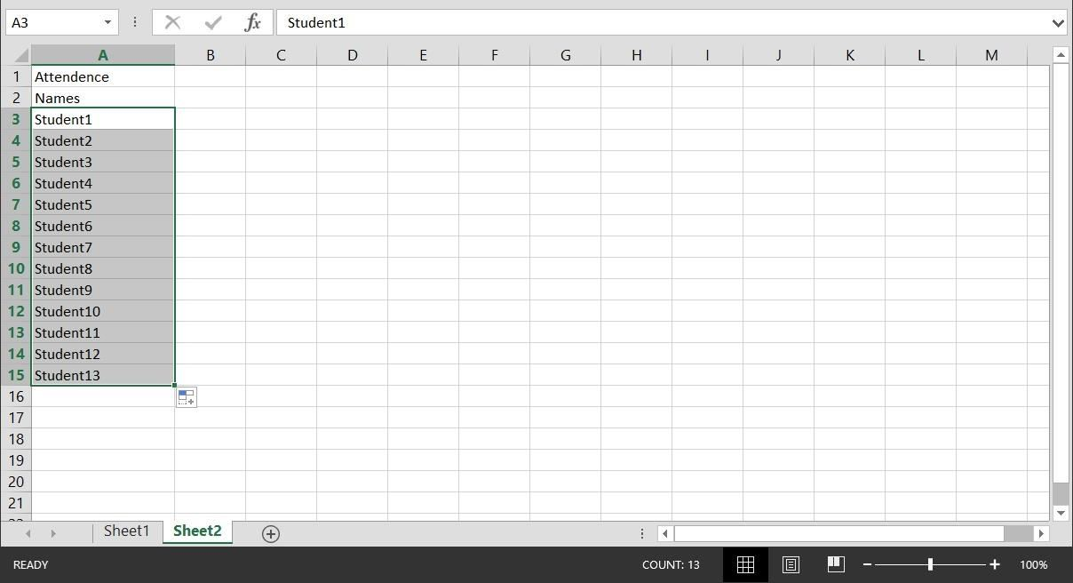 Attendance Sheet | How To Create A Basic Attendance Sheet In Excel Microsoft Office