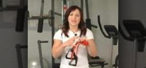 Use a resistance band to work out: your chest