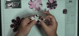 Make a flower brooch using the Big Shot