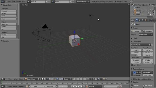 Create a 3D model of a styrafoam coffee cup in Blender 2.5 - Part 1 of 2