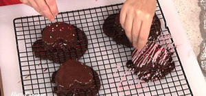 Make homemade heart-shaped chocolate brownies