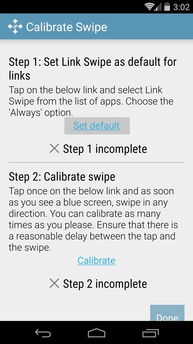 Open Links in Different Browsers with Gestures on Android