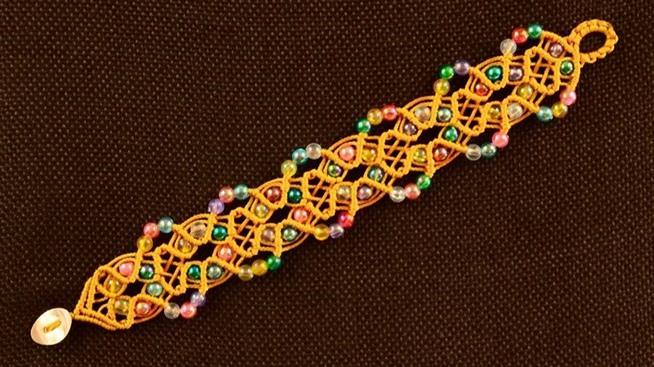 also beaded macrame square bracelet tutorial beaded zig zag bracelet ...