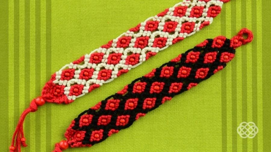 How to Make a Macrame Bracelet with Small Beads.