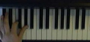 Improvise in D minor blues on the piano