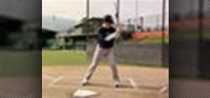 Practice the tracking the pitch drill in baseball