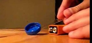 Make extremely simple scales with a 9v battery and cap
