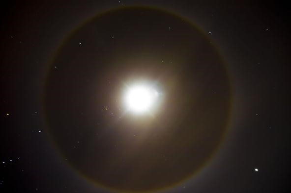 22° Halo Around the Moon