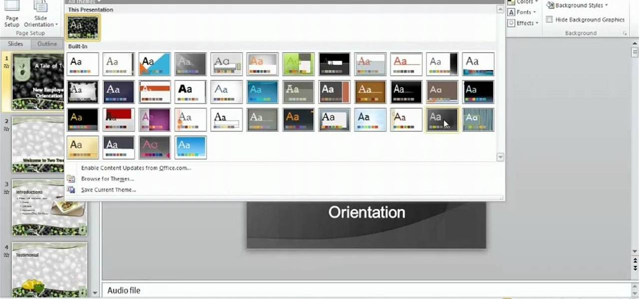 how to use the microsoft office ribbon ui in powerpoint 2010
