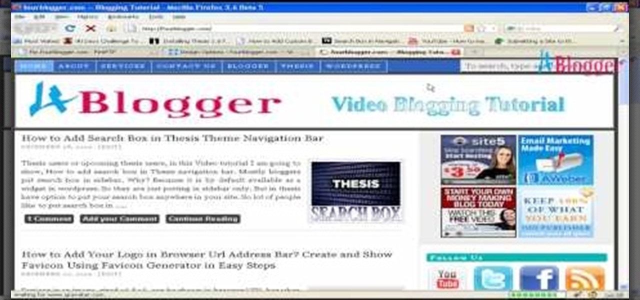 add video to thesis theme