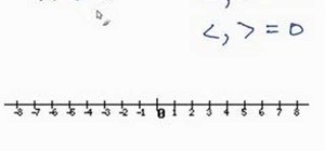 Graph an inequality on a number line