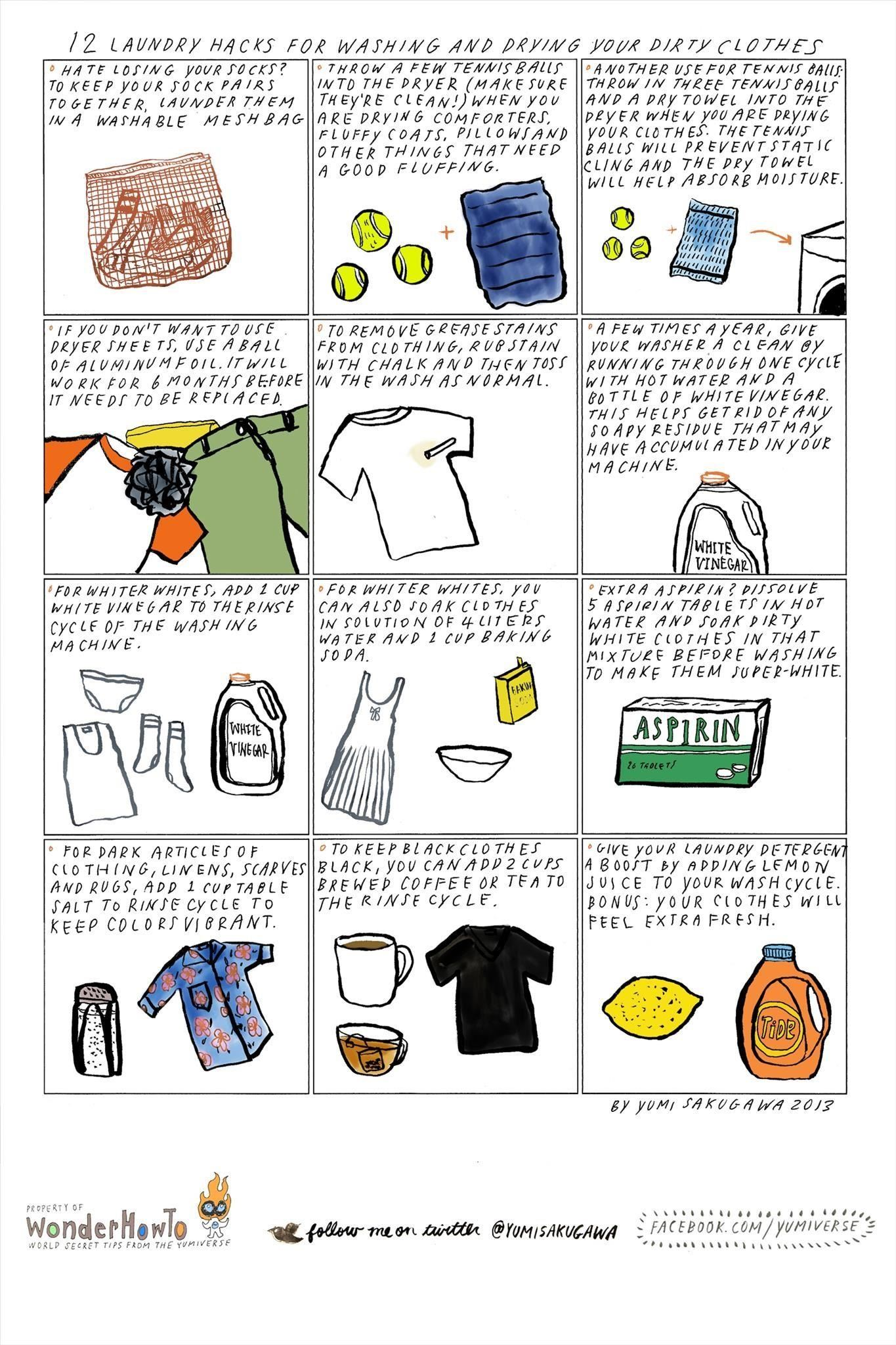 12 Laundry Hacks for Washing & Drying Your Dirty Clothes