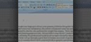 Format a paragraph in Word 2007