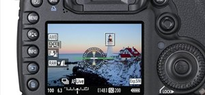 Use the electronic level display on the Canon EOS 7D
