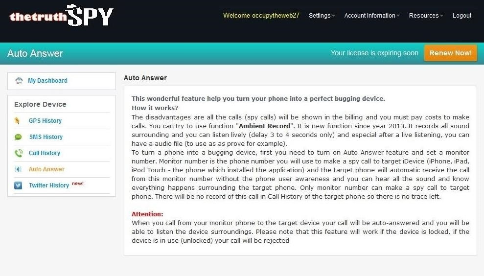 Cell phone spyware for java