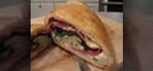 Cook a calzone with spinach, provolone and salami filling