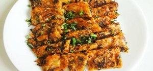 Make spicy Korean pickled cabbage pancakes (aka kimchi jeon)