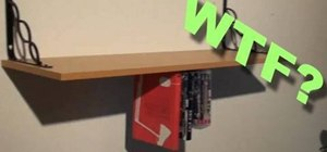 Build an upside down bookcase