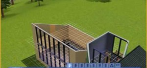 Build a modern wooden house in Sims 3