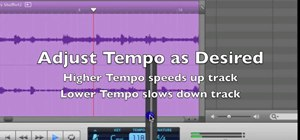 Change the tempo in GarageBand (speed up or slow down songs)
