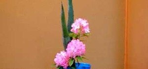 Arrange rising and inclining forms in ikebana style