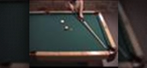 Shoot a bank shot in pool with a parallel line