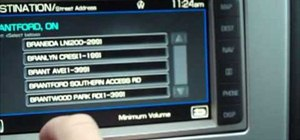 Set a waypoint destination in a 2010 Ford Lincoln MKX