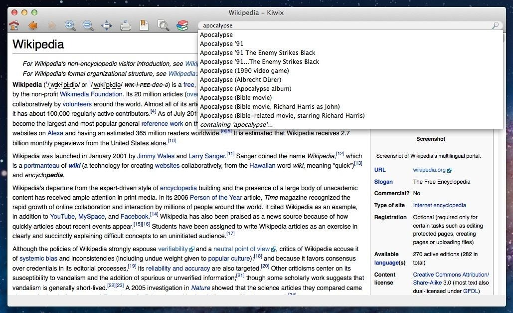 How to Download a Complete Offline Version of Wikipedia That You Can Read at Anytime