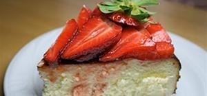 Grandma's Strawberry Cheesecake