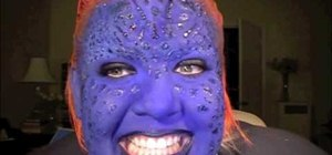 Do Mystique from the X-Men makeup for Halloween