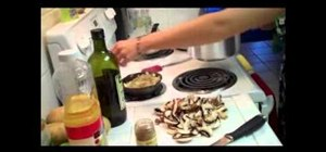Cook vegan potato mushroom blintzes