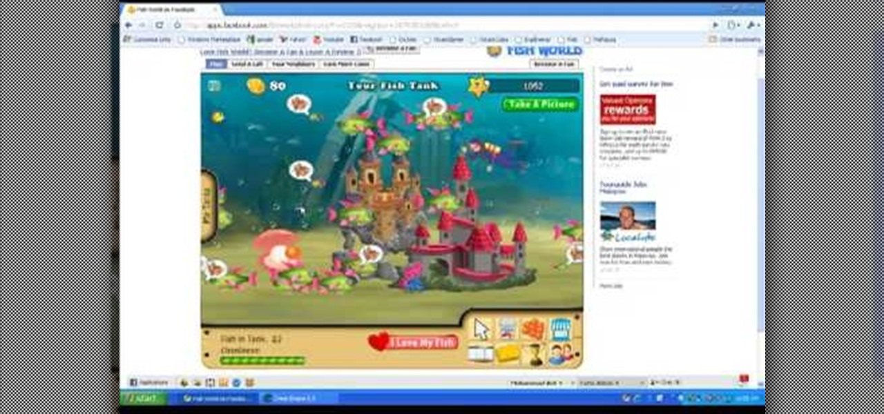 How to hack facebook 39 s fish world with ce 08 21 09 web for Fish world on facebook