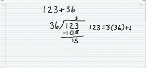 Use the Euclidean algorithm to find a number set's GCF