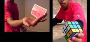 Do magic with a Rubik's cube & make a card boomerang