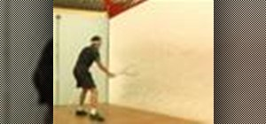 Do a volley boost backhand return of serve for squash