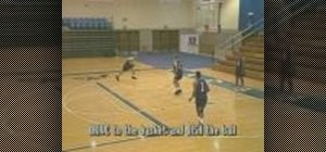 Practice drive and dish basketball drills