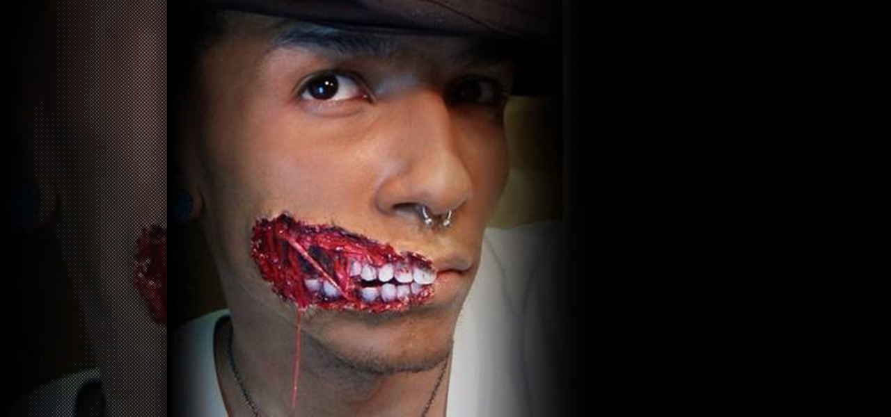 How to Create an exposed teeth makeup look for Halloween - How To Make Halloween Makeup