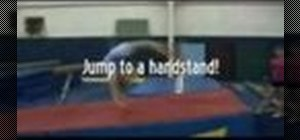 Practice to do a back handspring