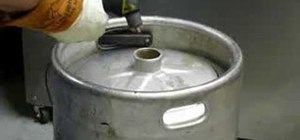 Convert a keg into a kettle for homebrewing beer