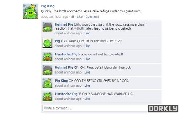 5 Angry Birds Status Updates